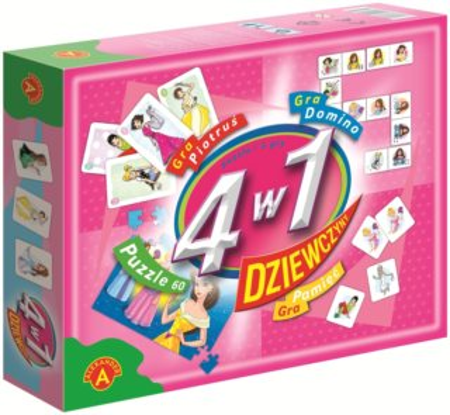 Soubor her 4v1 Pro dívky (puzzle, karty, pexeso, domino)