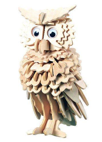 3D dřevěné puzzle Sova