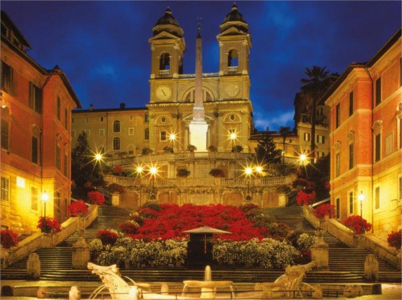 Puzzle RAVENSBURGER 1500 dílků - Španělské schody, Řím