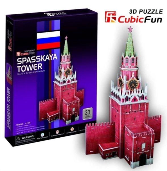 CUBICFUN 3D puzzle Spasská věž 33 dílků