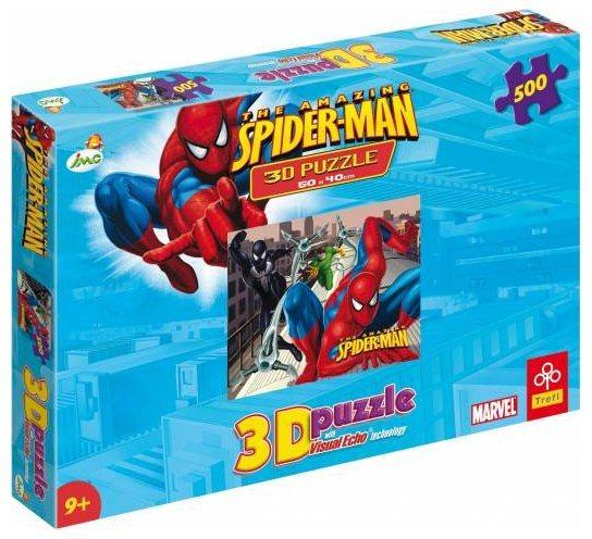 3D puzzle pro děti TREFL 500 dílků - Spiderman 3D