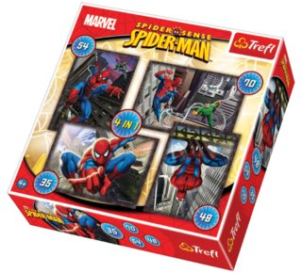 TREFL Puzzle Spiderman 4v1 (35,48,54,70 dílků)