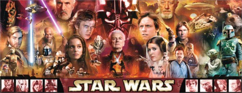 RAVENSBURGER Panoramatické puzzle Star Wars: Legendy 1000 dílků