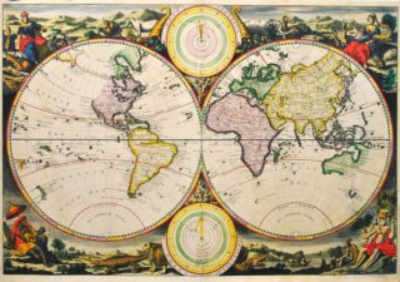 Puzzle DINO 500 dílků - Stará mapa