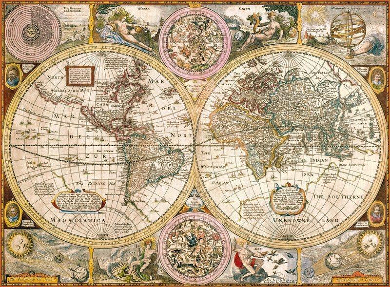 CLEMENTONI Puzzle Stará mapa 3000 dílků