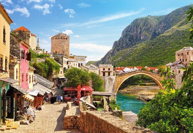 CASTORLAND Puzzle Staré město Mostar 1500 dílků