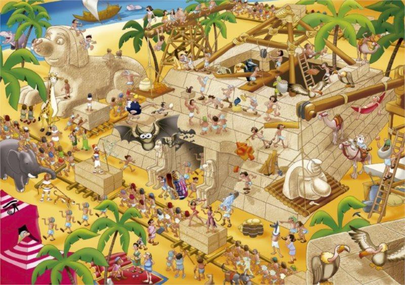 EDUCA 16345 Starověký Egypt - puzzle 1000 dílků