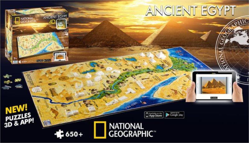 4D Cityscape Time puzzle - Starověký Egypt 650 dílků