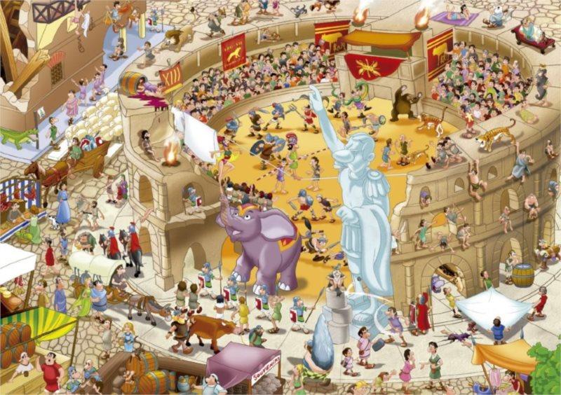 EDUCA 16344 Starověký Řím - puzzle 1000 dílků