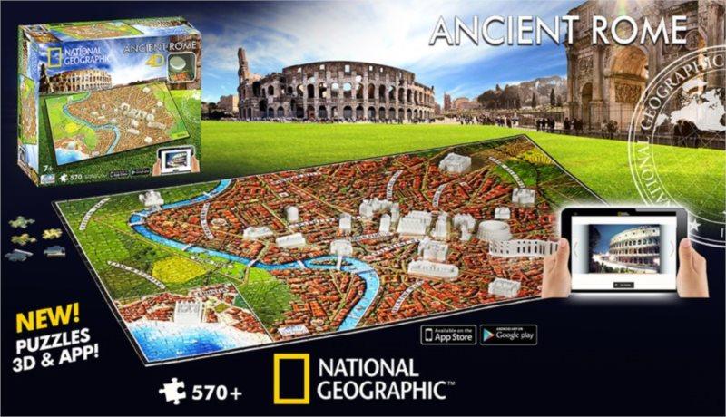 4D Cityscape Time puzzle - Starověký Řím 570 dílků