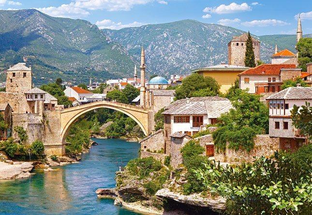 Puzzle CASTORLAND 1000 dílků - Mostar, Bosna a Hercegovina