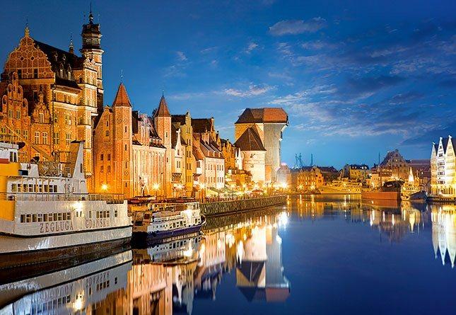 CASTORLAND Puzzle Starý přístav, Gdaňsk 1000 dílků