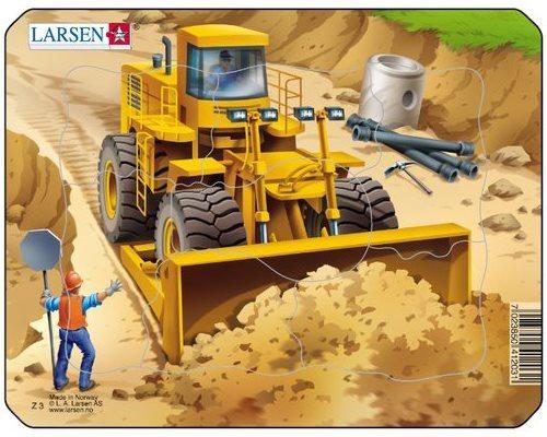 LARSEN Puzzle Stavba: Buldozer 7 dílků
