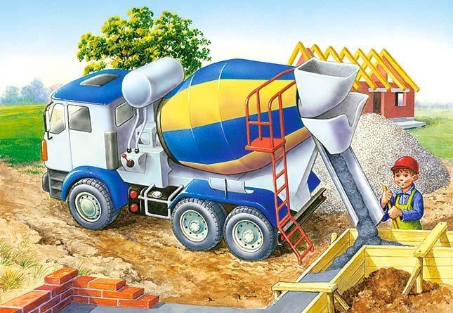 CASTORLAND Puzzle Stavba - Domíchávač 60 dílků