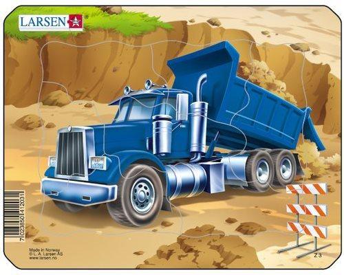 LARSEN Puzzle Stavba: Nákladní auto 7 dílků