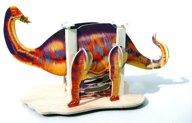 3D puzzle Stojánek na tužky - Brontosaurus