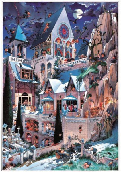HEYE Puzzle Strašidelný hrad 2000 dílků