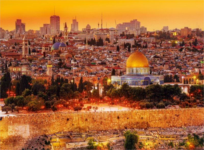 TREFL Puzzle Střechy Jeruzaléma 3000 dílků