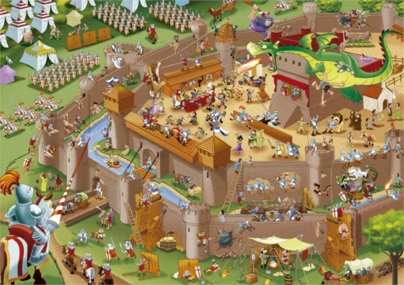 EDUCA Puzzle Středověk 1000 dílků