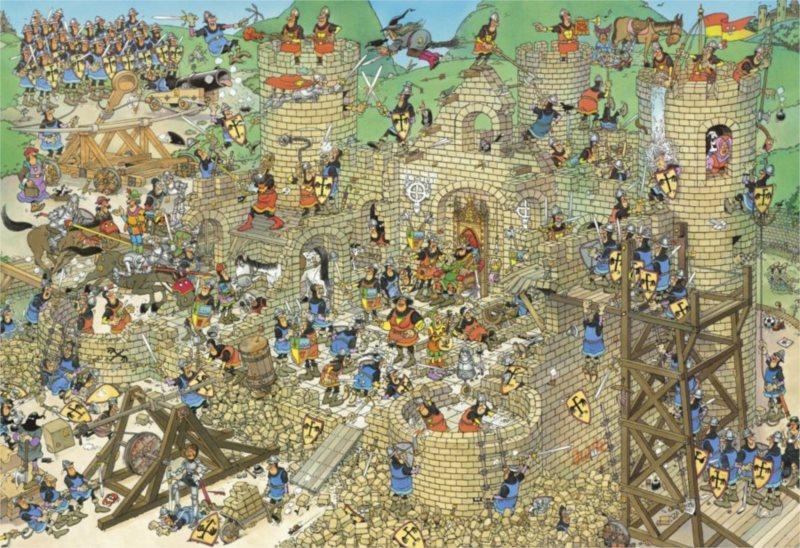 JUMBO 17223 Středověk, Haasteren - puzzle 5000 dílků