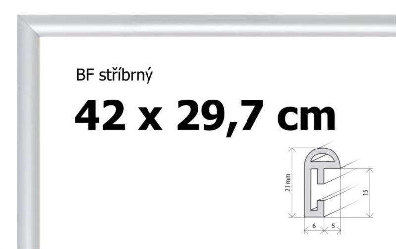 BFHM Plastový rám na puzzle 42x29,7cm A3 - stříbrný