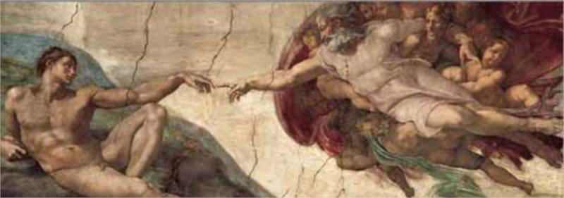 Puzzle EDITIONS RICORDI 1000 dílků - Michelangelo, Stvoření Adama