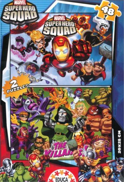 EDUCA Puzzle Superhrdinové 2x48 dílků