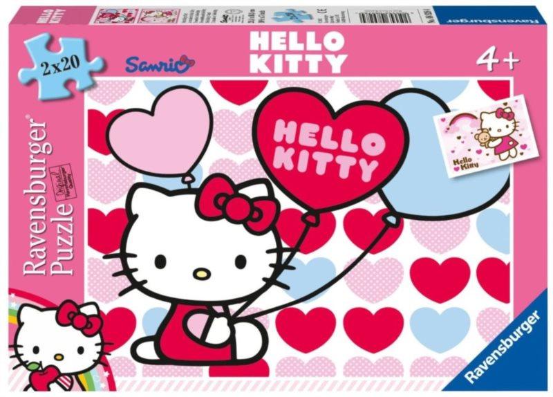Dětské puzzle RAVENSBURGER 2x20 dílků - Svět Hello Kitty 2v1