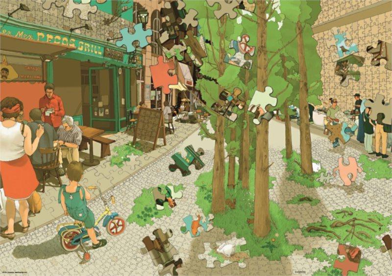 HEYE Puzzle Svět puzzle 1000 dílků