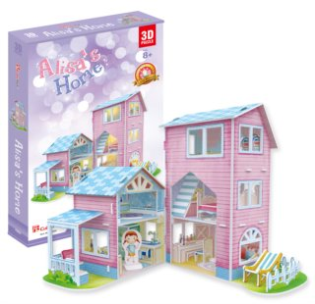 CUBICFUN Svítící 3D puzzle Alisin dům 74 dílků