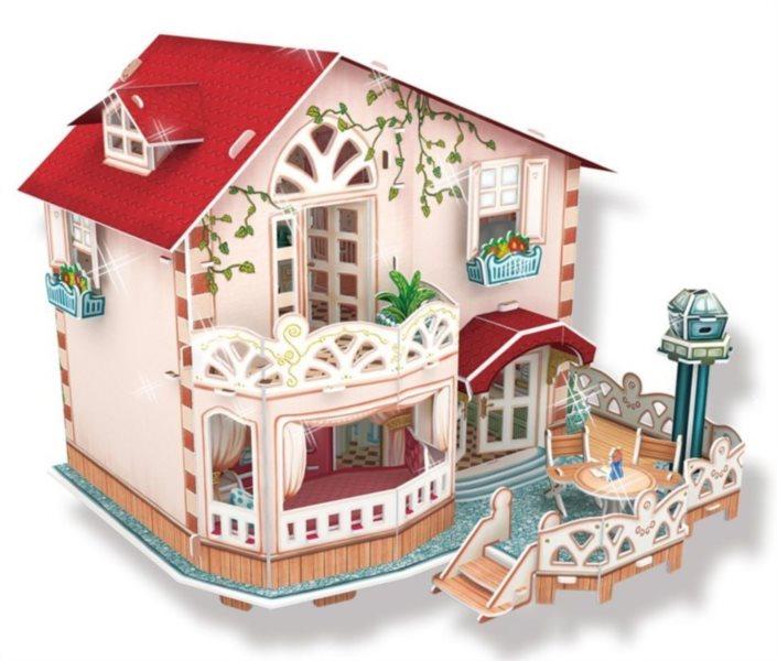 CUBICFUN Svítící 3D puzzle Letní sídlo 114 dílků