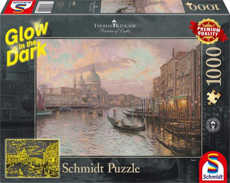 SCHMIDT Svítící puzzle Benátky, Itálie 1000 dílků