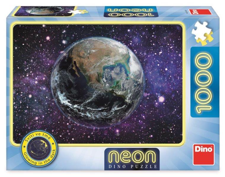 DINO Svítící puzzle Planeta Země 1000 dílků
