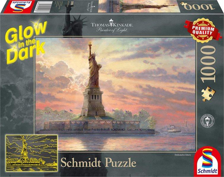 SCHMIDT Svítící puzzle Socha Svobody, New York 1000 dílků