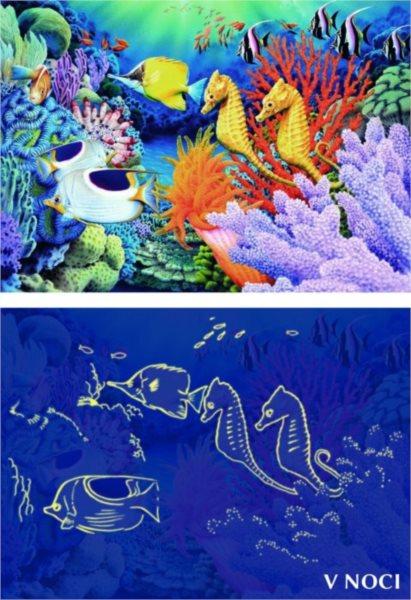 DINO Svítící puzzle Život pod mořem 1000 dílků