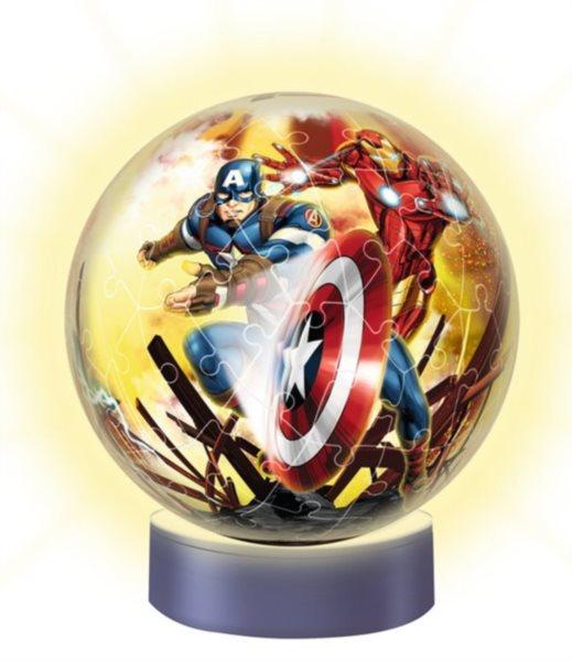 RAVENSBURGER Svítící puzzleball Avengers 72 dílků