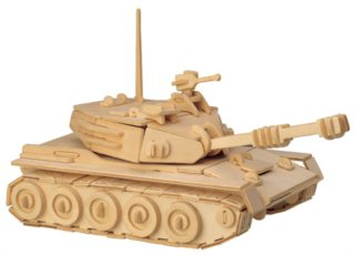 WOODEN TOY , WCK 3D puzzle Tank