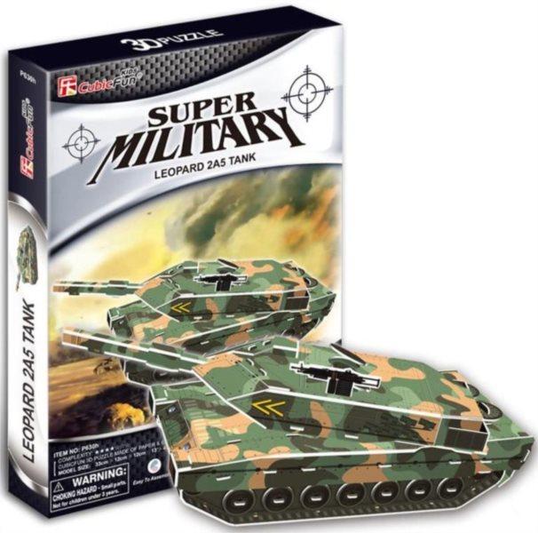 CUBICFUN 3D puzzle Tank Leopard 2A5 - 51 dílků