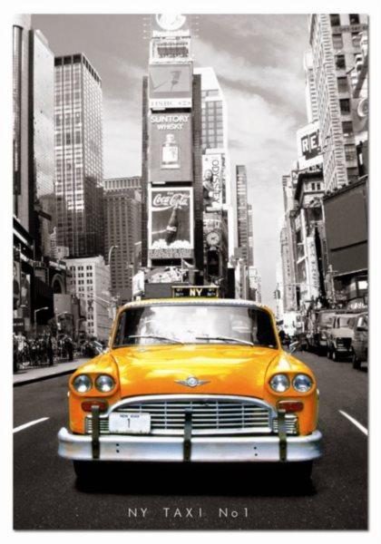 Puzzle EDUCA 1000 dílků - Taxi č.1, New York (+lepidlo)