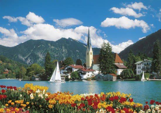 poškozený obal: Puzzle CLEMENTONI 6000 dílků - Tegernsee, Rottach - Egern