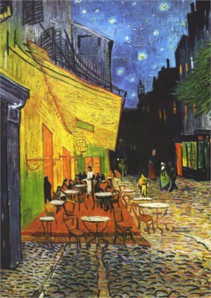 Puzzle PIATNIK 1000 dílků - V. Gogh: Terasa kavárny v noci
