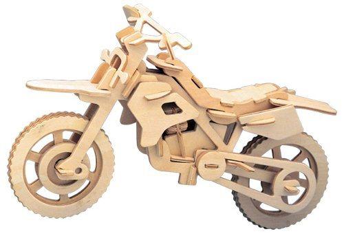 WOODEN TOY , WCK 3D puzzle Terénní motorka