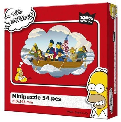 Dětské puzzle EFKO 54 dílků - The Simpsons: Pánská jízda