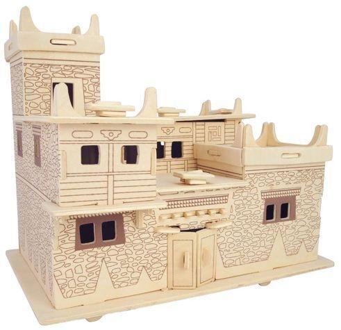 WOODEN TOY , WCK 3D puzzle Tibetský dům C