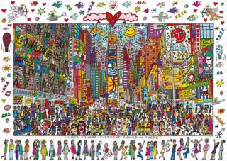 RAVENSBURGER Puzzle Times Square - Everyone should go there 1000 dílků
