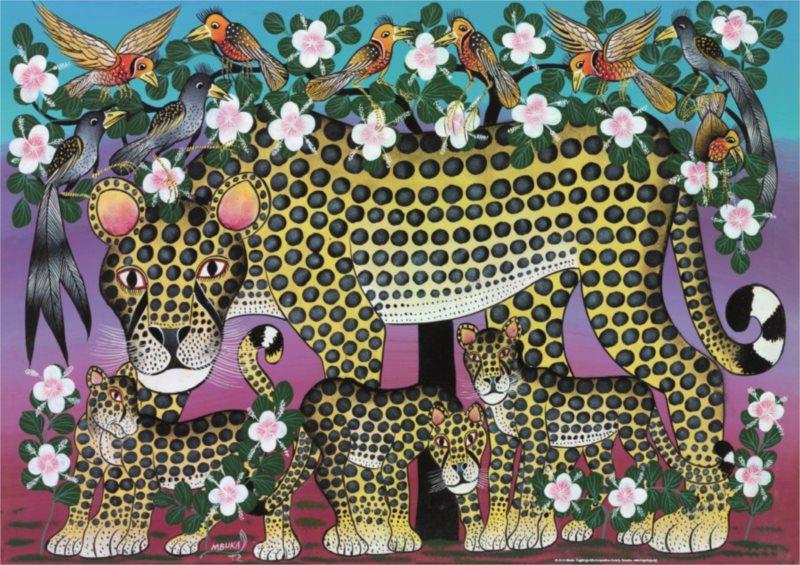 HEYE Puzzle Tingatinga: Divoké kočky 1000 dílků