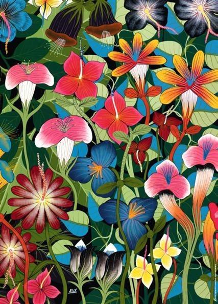 Puzzle HEYE 1000 dílků - Tinga Tinga: Květiny