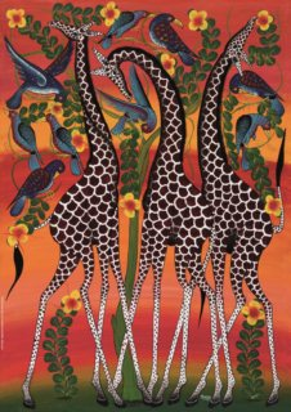 Puzzle HEYE 1000 dílků - Tinga Tinga: Žirafy