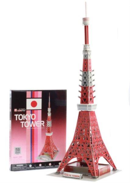 CUBICFUN 3D puzzle Tokijská věž 59 dílků