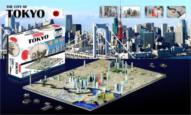 4D Cityscape Time puzzle - Tokio 1400 dílků